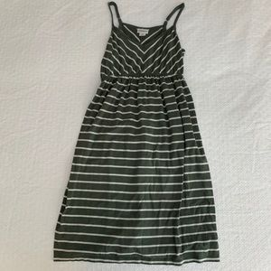 Motherhood Maternity Green Striped Dress